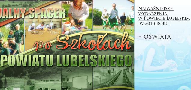 Najważniejsze wydarzenia w Powiecie Lubelskim w 2013 roku - OŚWIATA
