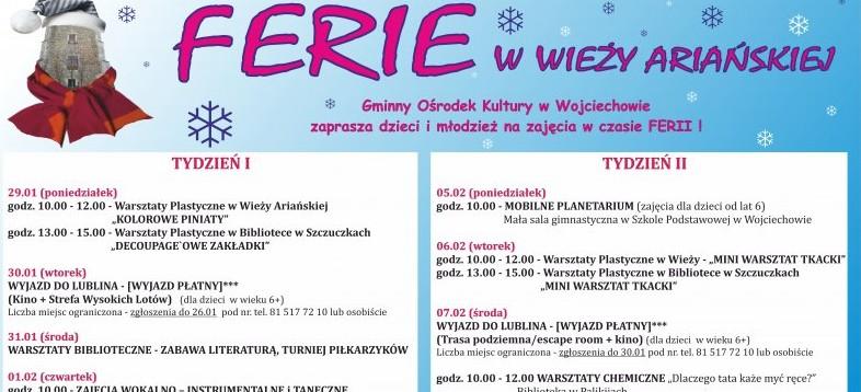 Feryjne atrakcje w Wojciechowie