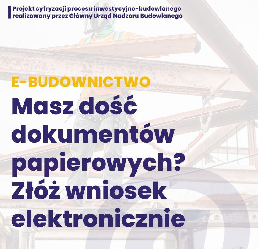 E-budownictwo  Wypełnij izłóż wniosek elektronicznie