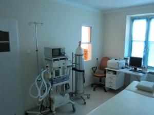Nowo wykonana pracownia endoskopowa.
