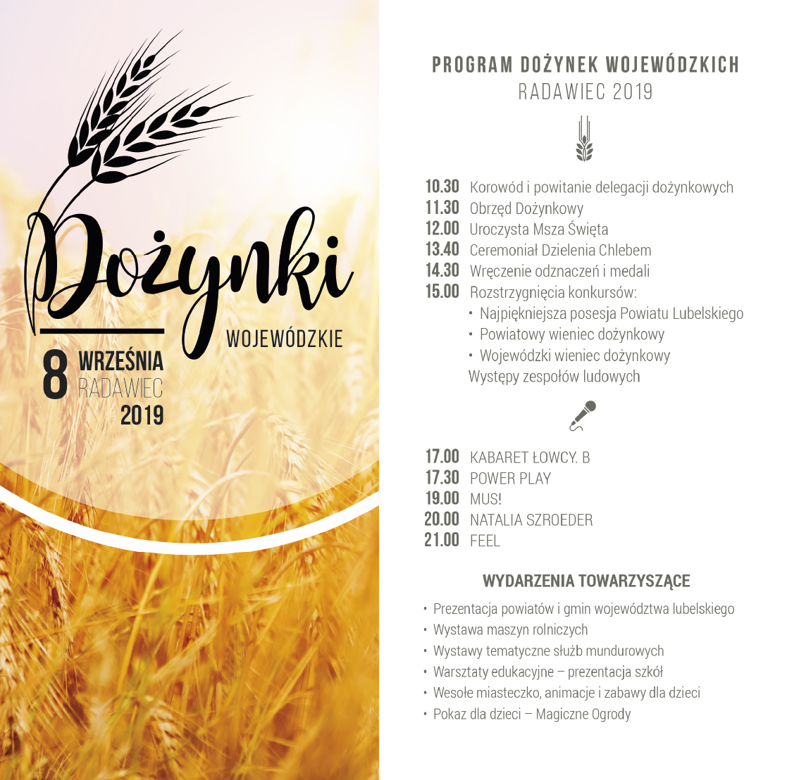 program dożynki 2019